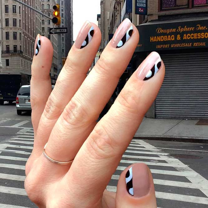Easy and Cute Black and White Nails Ideas picture 2 - Beautiful Black And White Nail Designs NailDesignsJournal