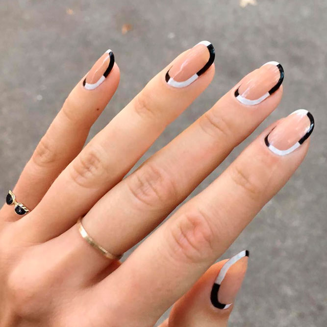 Easy and Cute Black and White Nails Ideas picture 3 - Beautiful Black And White Nail Designs NailDesignsJournal