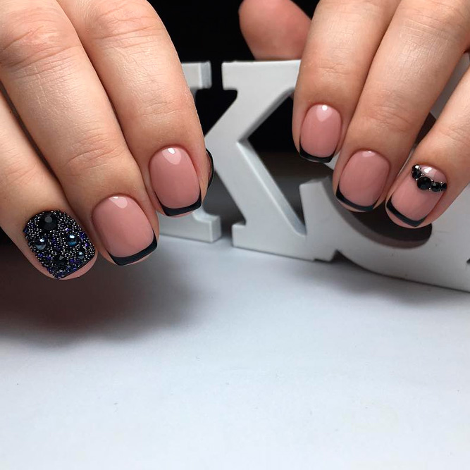 Fantastic black french manicure to try naildesignsjournal black french for short nails picture 3 prinsesfo Images