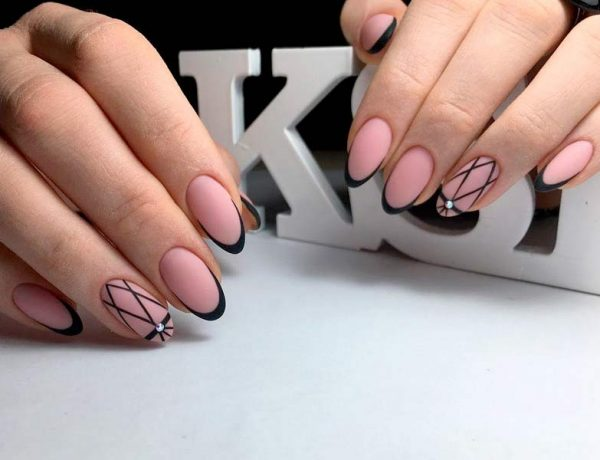 Awesome Ideas for Black French Manicure