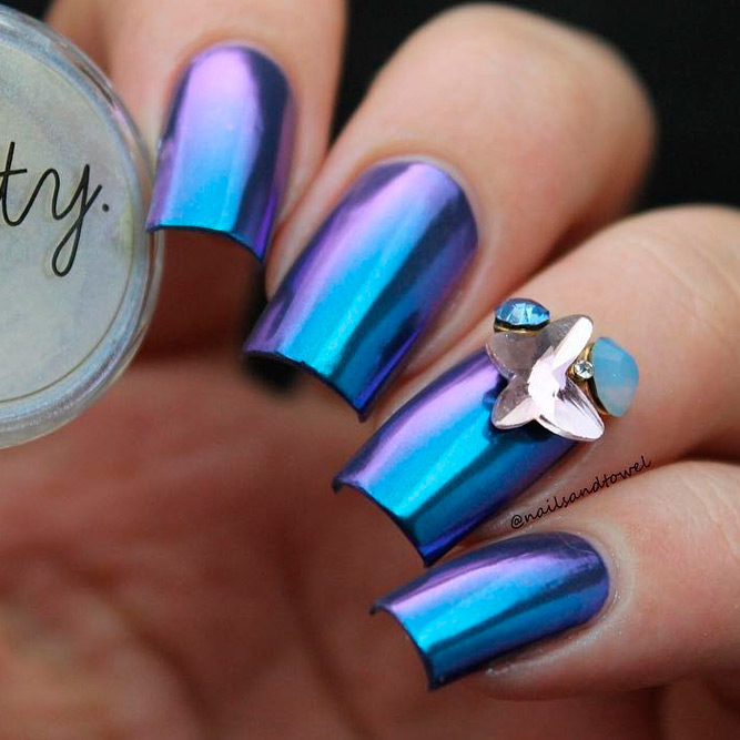 Chrome Ideas for Square Nails picture 3