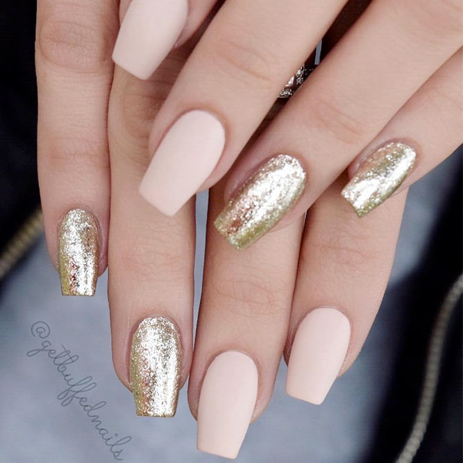 Exquisite Nude Coffin Nails picture 2