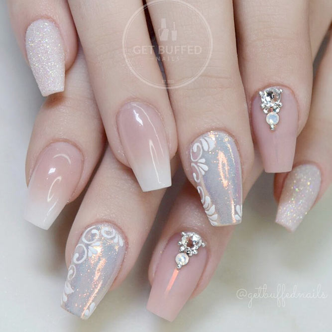 Exquisite Nude Coffin Nails picture 3