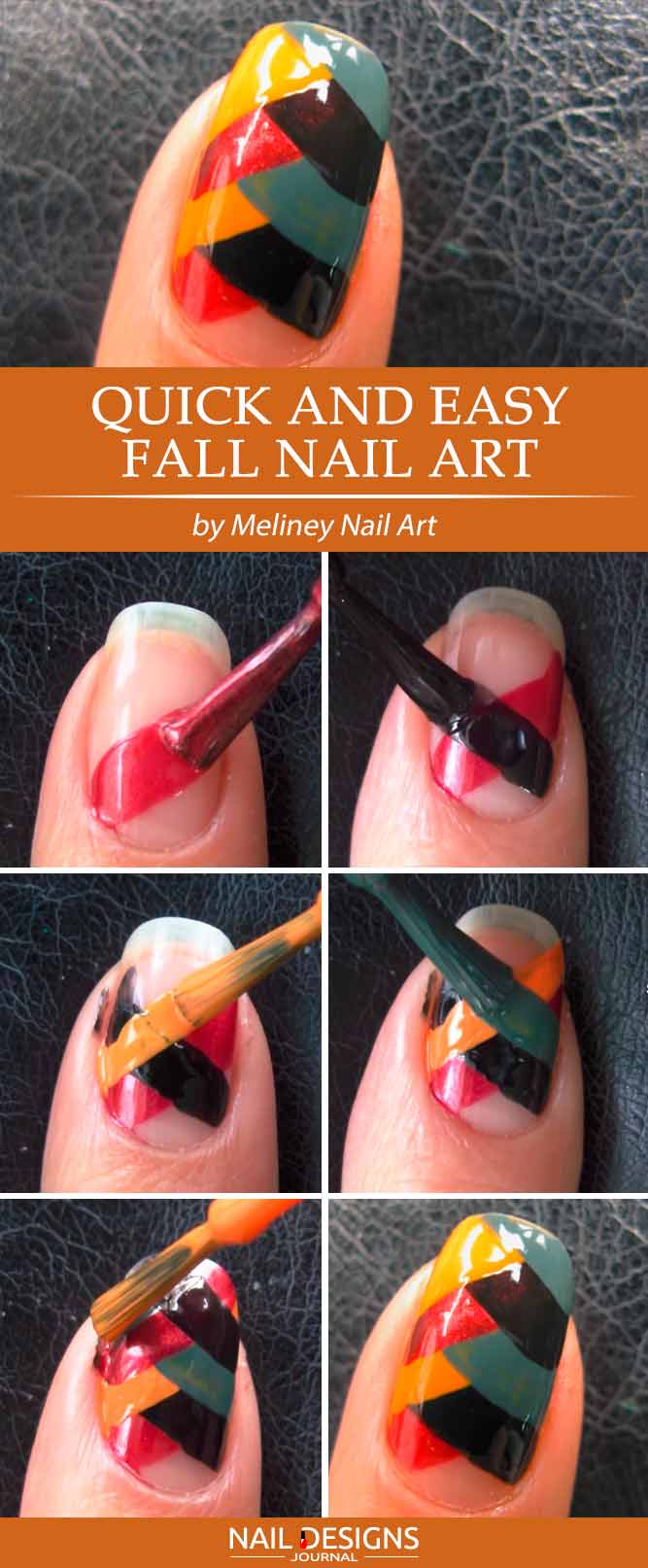 Fall Fishtale Nail Art #fallnailart #simplenaildesigns
