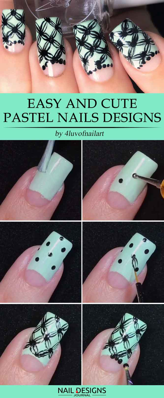 Try these easy nail designs naildesignsjournal easy nail designs with hand painted pattern prinsesfo Image collections