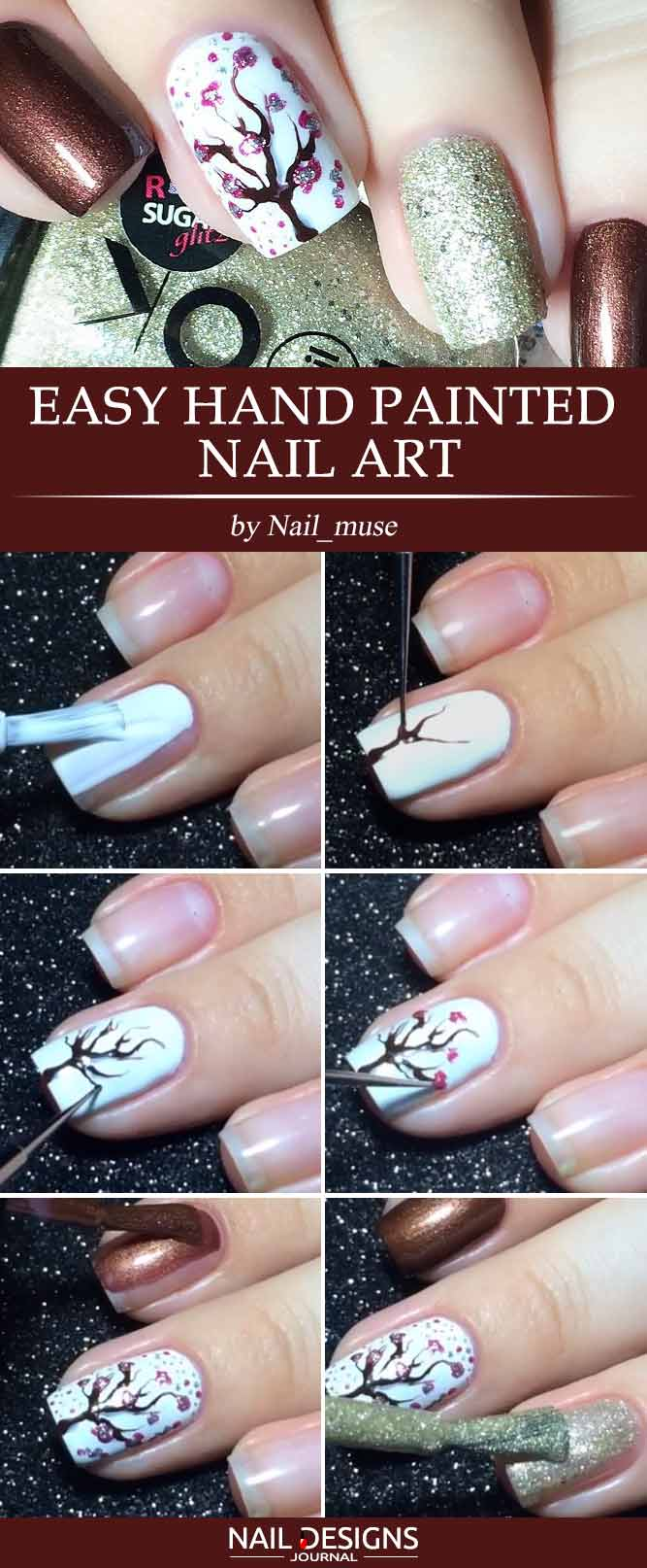15 super easy nail designs diy tutorials crazyforus prinsesfo Image collections