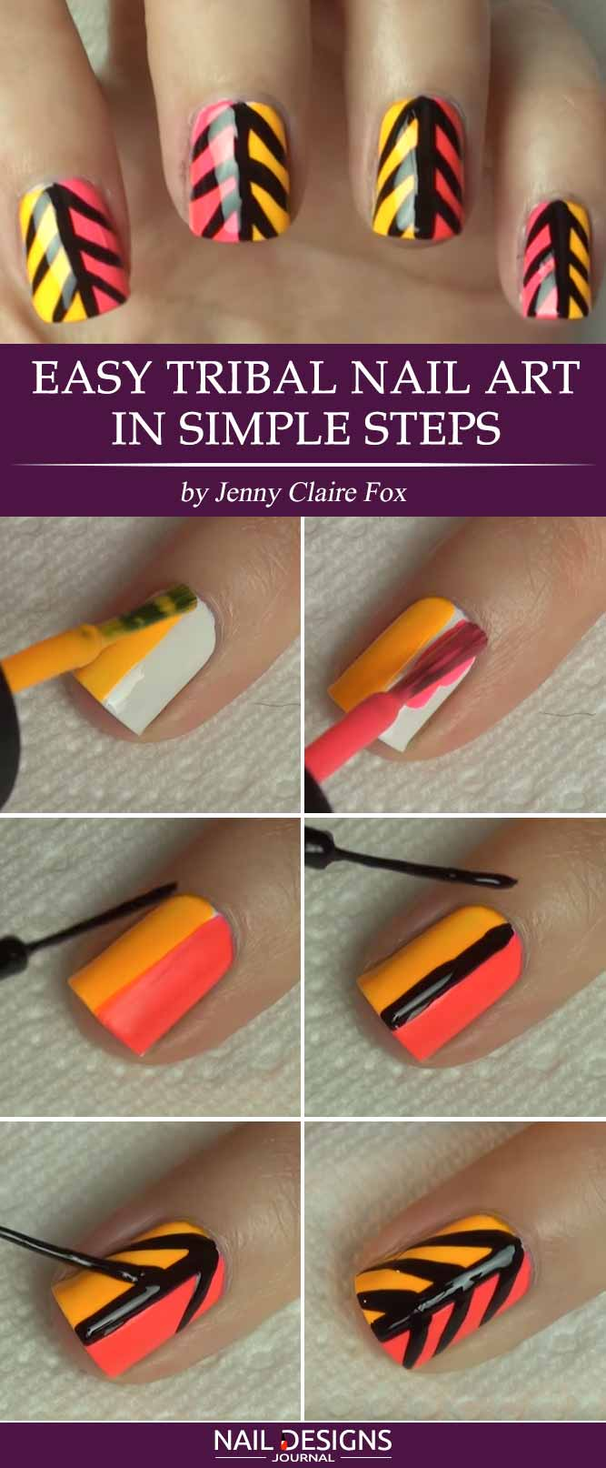 Try these easy nail designs naildesignsjournal easy tribal nail art in simple steps prinsesfo Gallery