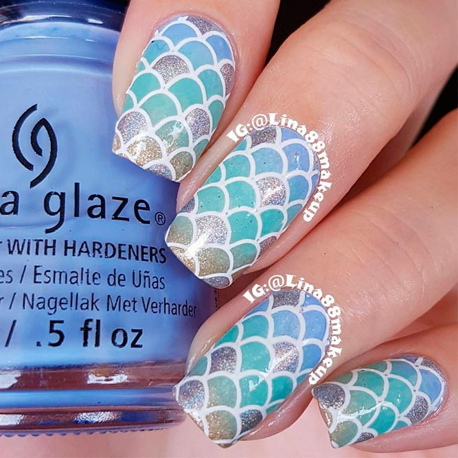 Lovely Mermaid Nails Ideas picture 1