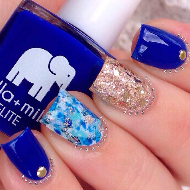 Elegant Nails with Glitter Accents picture 2