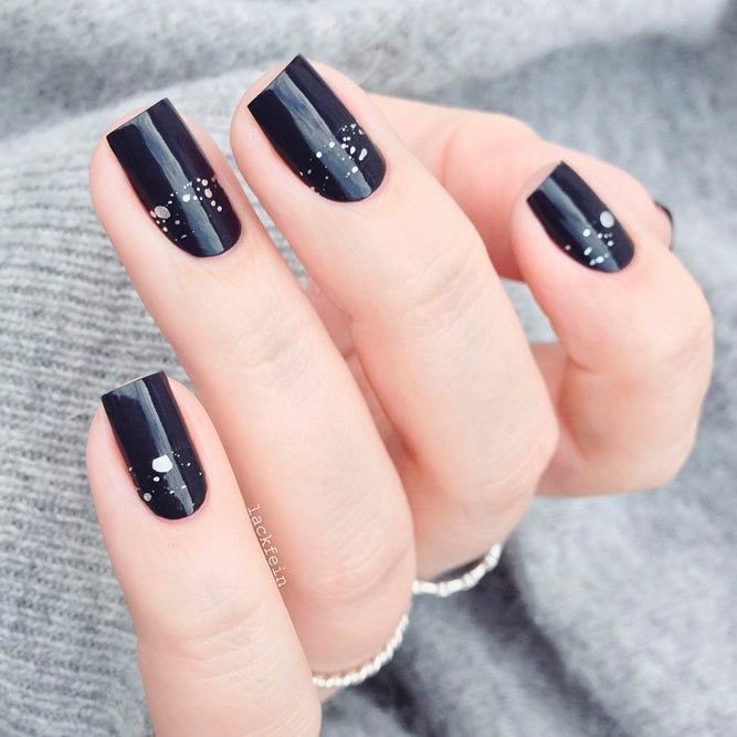Wonderful Dark Designs for Square Nails picture 1