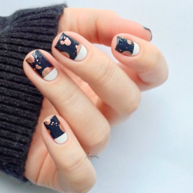 Wonderful Dark Designs for Square Nails picture 2