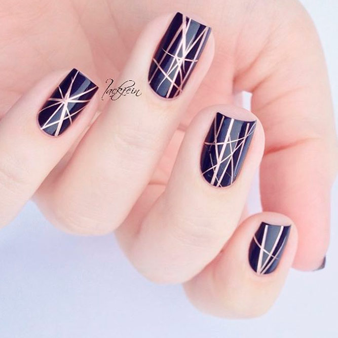 Wonderful Dark Designs for Square Nails picture 3