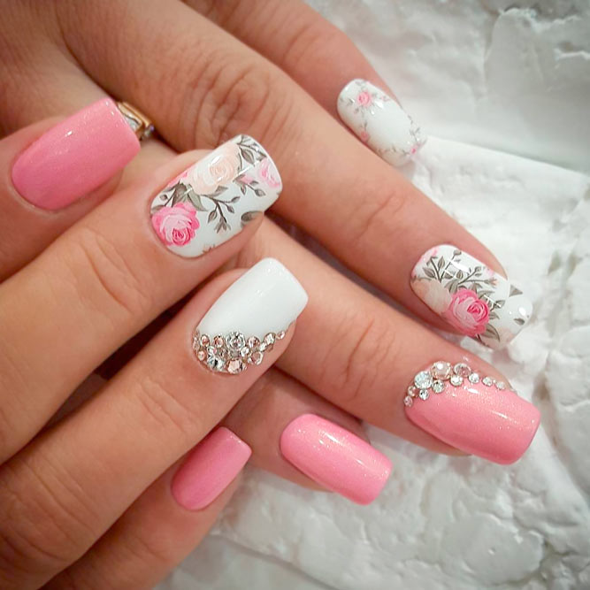 Pretty Rose Designs for Square Nails picture 3