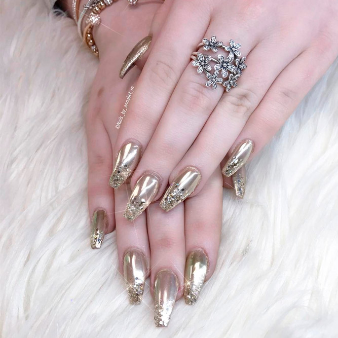 Perfect Gold Nail Art Designs picture 3