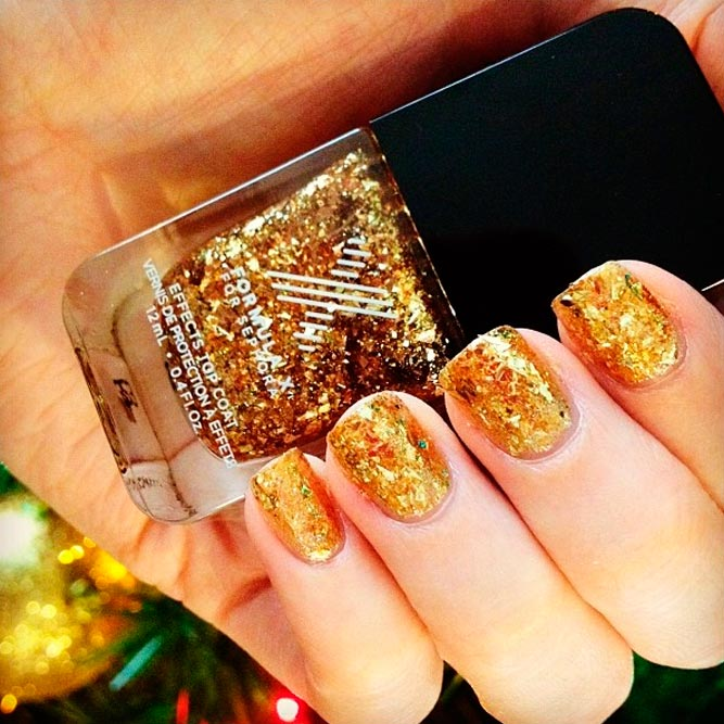 Beautiful Gold Glitter Nails Designs picture 2