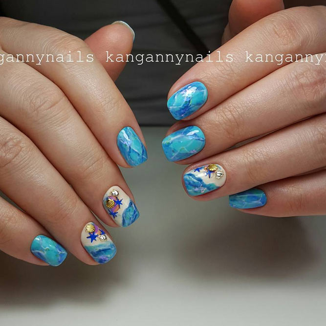 Beach Nail Art for Summer Time picture 1