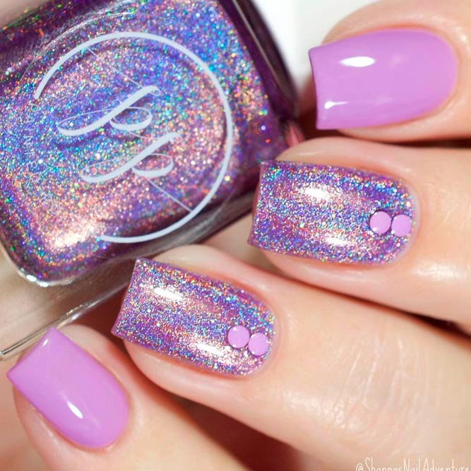 Soft and Romantic Summer Lavender Nails picture 2