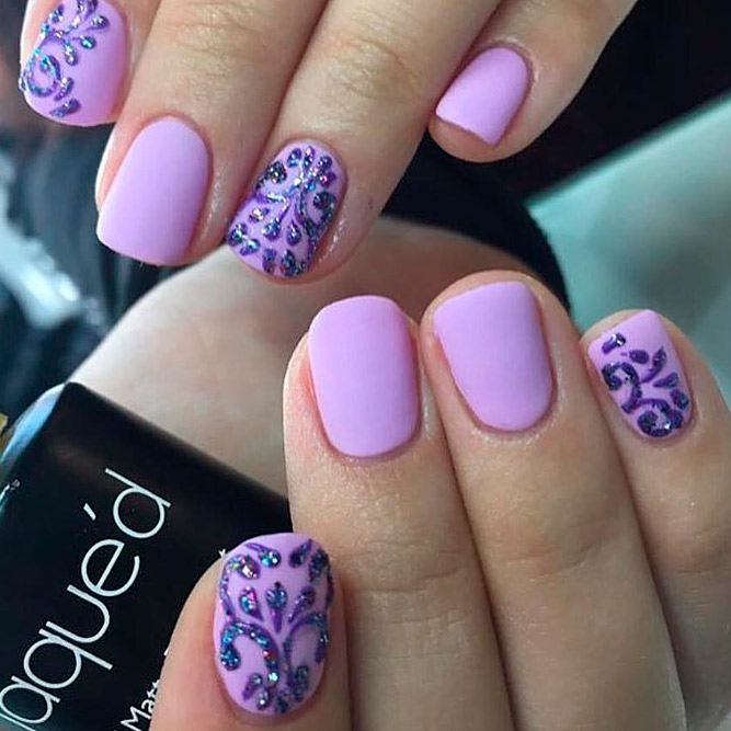 Soft and Romantic Summer Lavender Nails picture 3