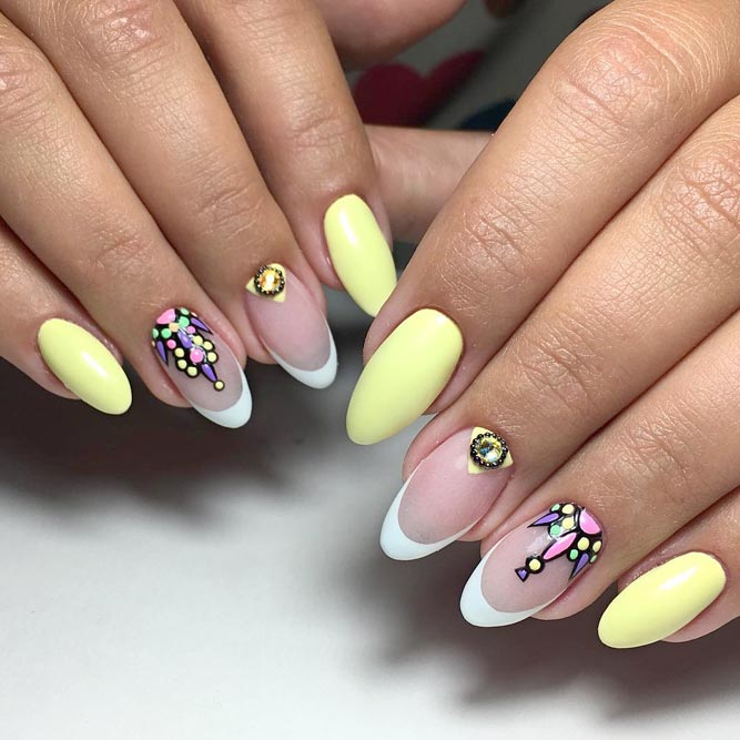 Light Yellow Summer Nails picture 2