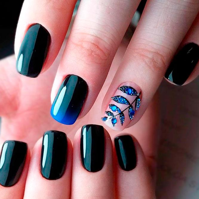 Elegant Black Nail Art Designs picture 1