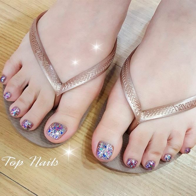 Toe Nail Designs with Sequins picture 2