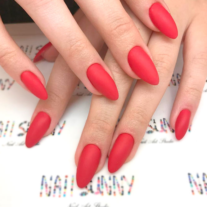 Red Matte Nails Designs picture 2