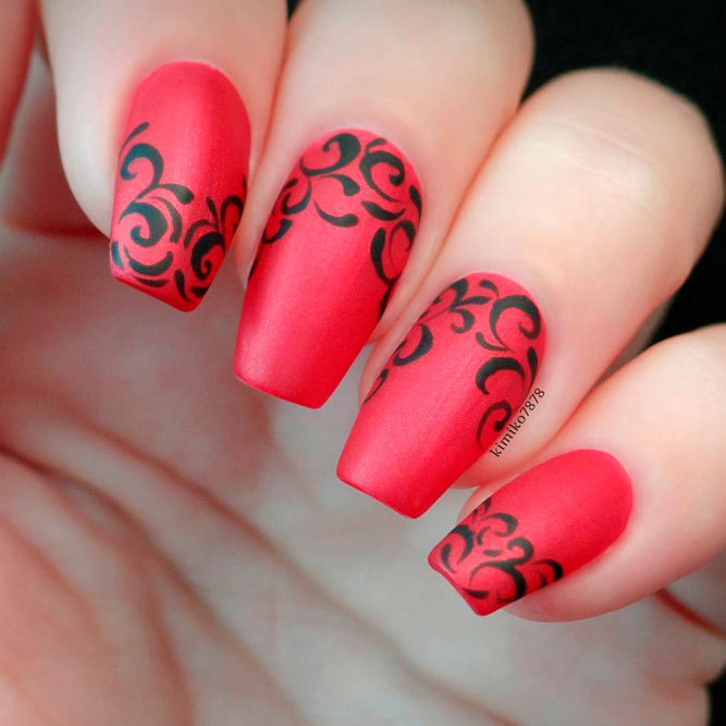 Red Acrylic Nail Designs picture 1