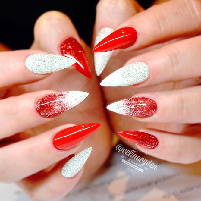 Cool Red Stiletto Nails picture 2 - Sport Beautiful Red Acrylic Nails NailDesignsJournal.com