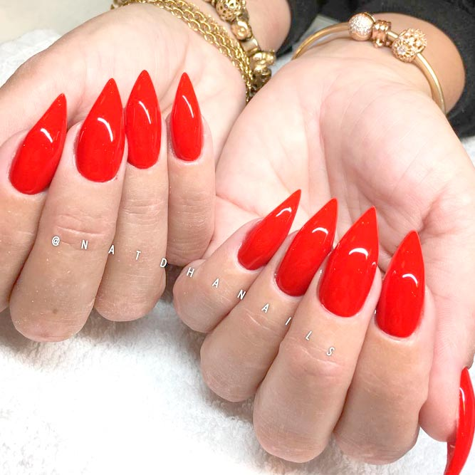 Cool Red Stiletto Nails picture 3