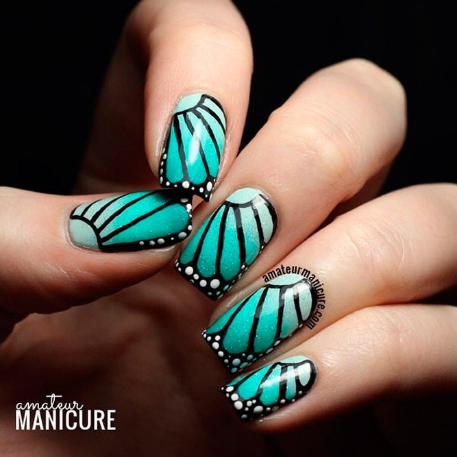 Butterflies Birds Nail Art picture 1