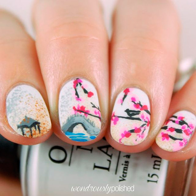 Butterflies Birds Nail Art picture 2