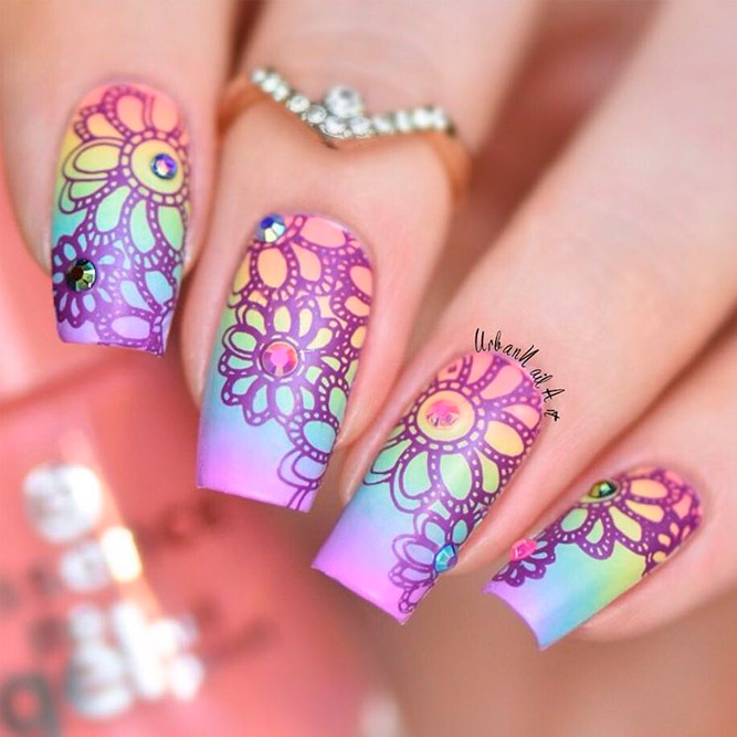Bright Rainbow Nail Art Ideas picture 2