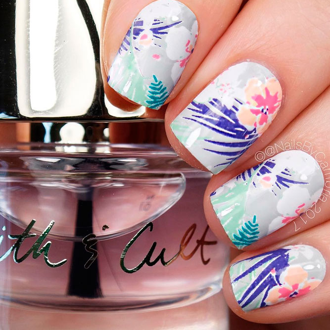 Summer Season Art Designs for Short Nails picture 3