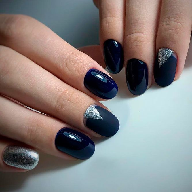 Simple And Stylish Blue Glitter Accents