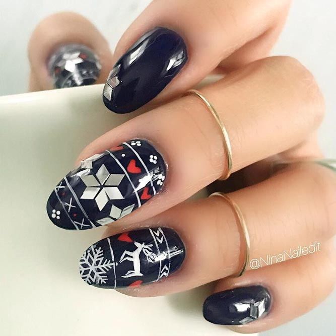 Cute Sweater Nail Print picture 2