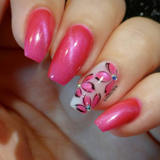 Cute Pink Nails for Elegant Women picture 3
