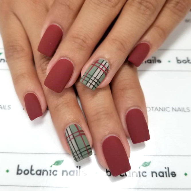 Matte Red With Burberry Accent