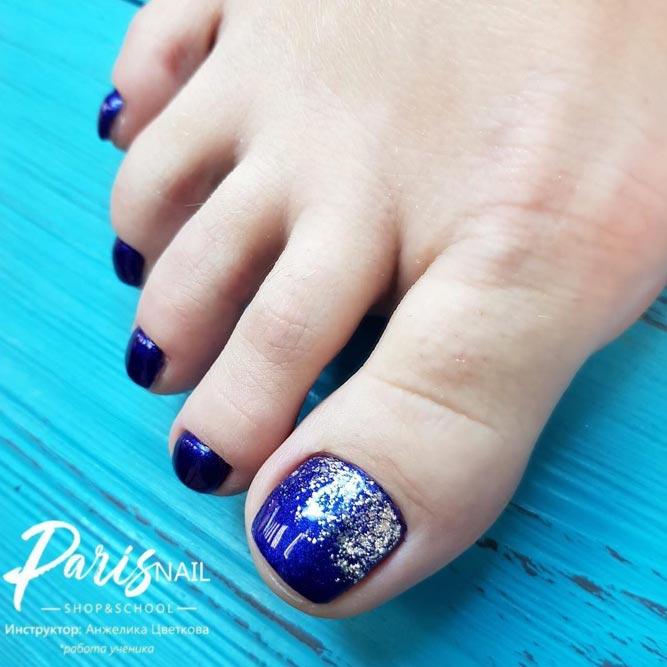 Glitter Ombre Toe Nail Art picture 1