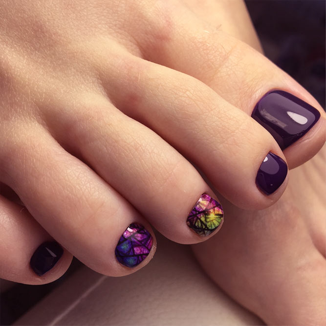 Abstract Toe Nails Designs