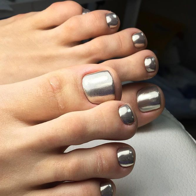 Silver Metallic Toe Nail Polish