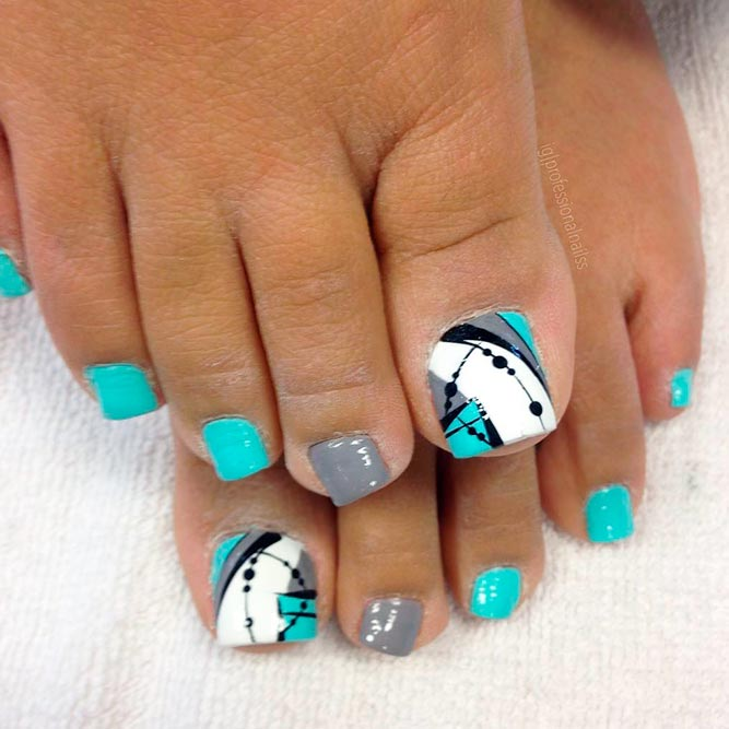 Abstracted Toe Nail Designs picture 1