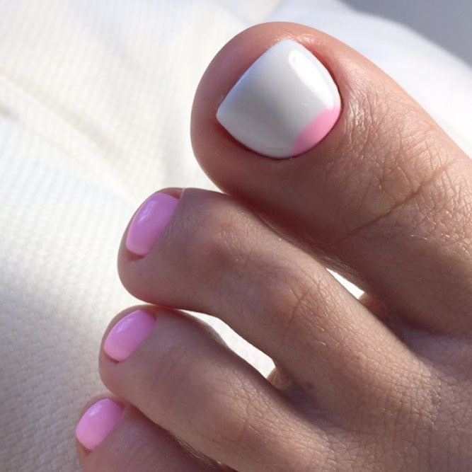 Elegant Half Moons for Toe Nails picture 1