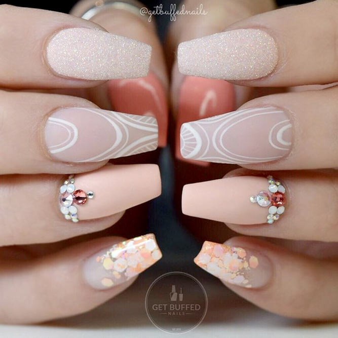 Trendy Nude Gel Nails picture 1