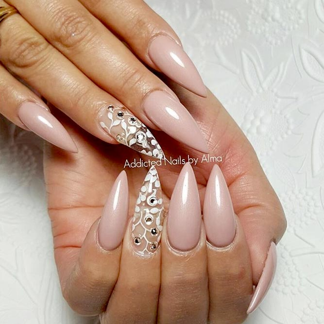 Trendy Nude Gel Nails picture 2