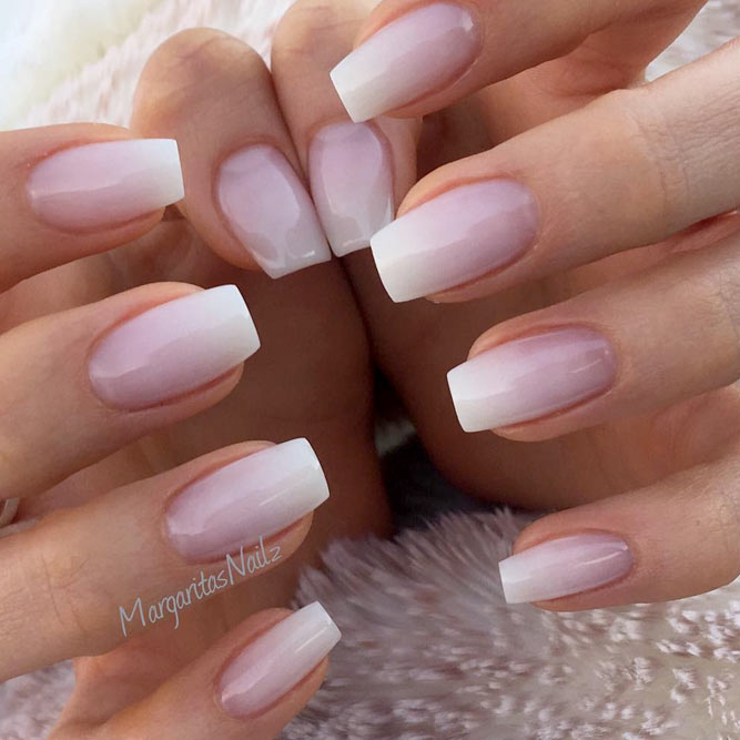 Perfect French Mani With Cute Ombre Picture 3