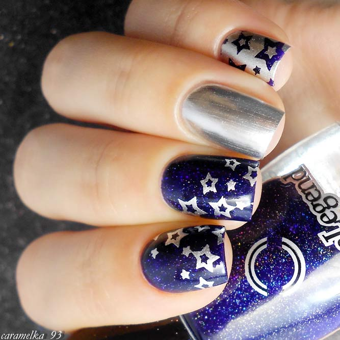 Popular Midnight Blue Nail Designs picture 3