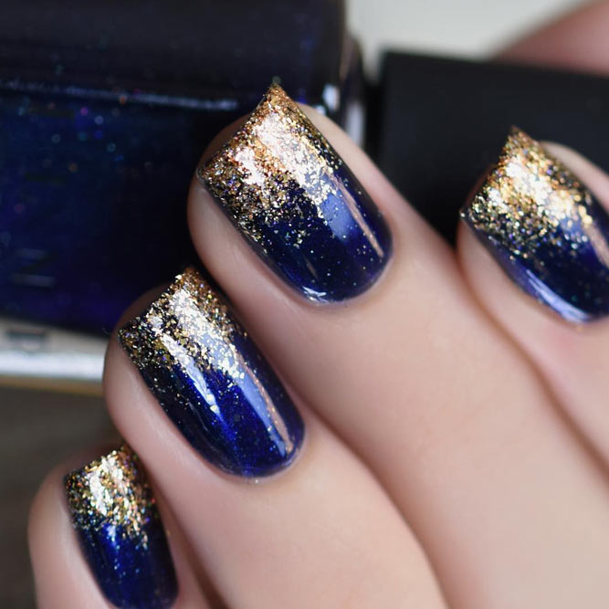 Popular Midnight Blue Nail Designs picture 1