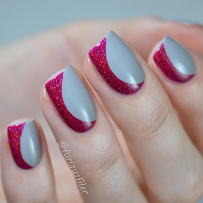 Beautiful Ideas to Style Gray Nails picture 1