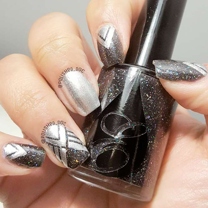 Beautiful Ideas to Style Gray Nails picture 3