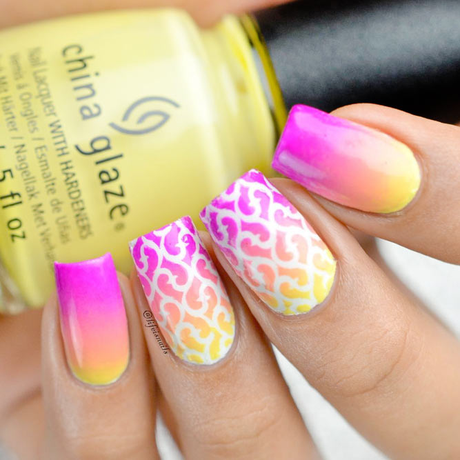 Bright Ombre Nail Polish Ideas picture 2